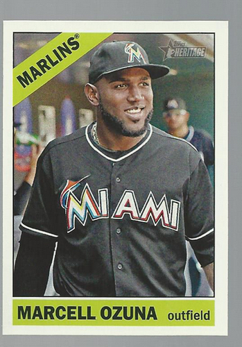 Photo of 2015 Topps Heritage #105 Marcell Ozuna