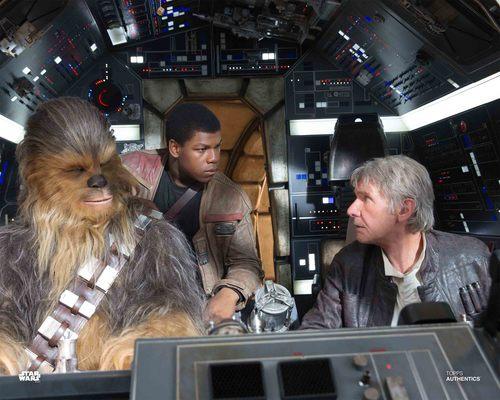 Han Solo, Finn and Chewbacca