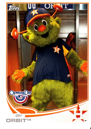 Photo of 2013 Topps Opening Day Mascots #M16 Orbit