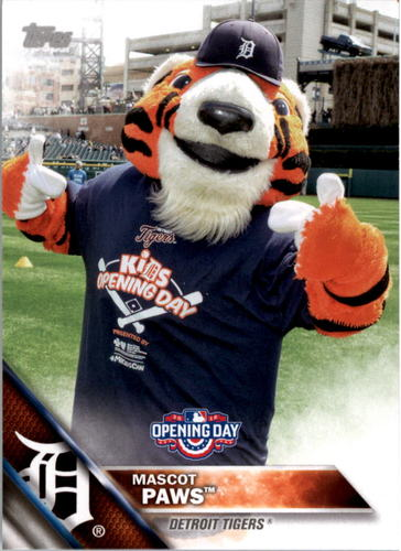 Photo of 2016 Topps Opening Day Mascots #M1 Paws