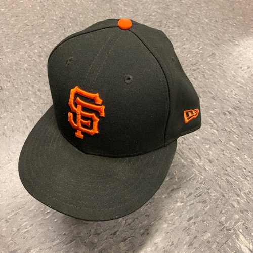 Photo of 2019 Game Used Cap worn by #16 Aramis Garcia on 9/29 vs. Los Angeles Dodgers - Bochy's Final Game - Size 7 1/2