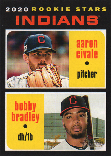 Photo of 2020 Topps Heritage #83 Bobby Bradley RC/Aaron Civale RC