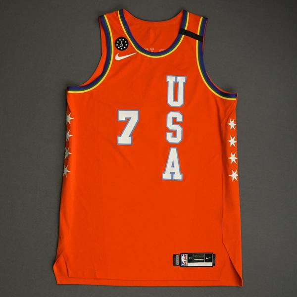 Image of Eric Paschall - 2020 NBA Rising Stars - Team USA - Game-Worn 1st Half Jersey
