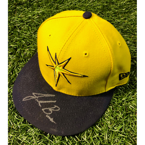 Photo of Rays Baseball Foundation: Game Used Player's Weekend Cap: Jalen Beeks (Rookie Season) - August 26, 2018 v BOS