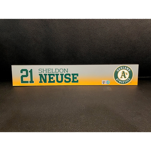 Photo of Sheldon Neuse Team Issued 2020 Spring Training Locker Nameplate