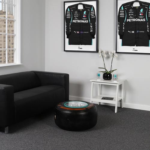 Photo of Mercedes-AMG Petronas Formula One Team 2015 Front Wheel Rim & Tyre Table