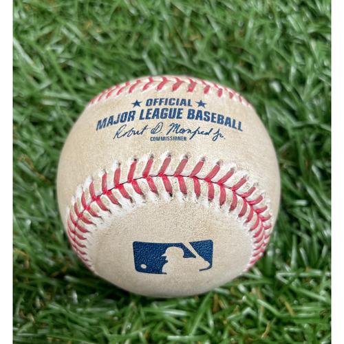 Photo of Game Used Baseball: Ji-Man Choi double off Trent Thornton - Bottom 1 - August 23, 2020 v TOR