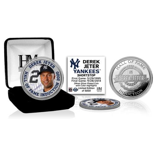 Photo of Derek Jeter 2020 HOF Color Silver Coin