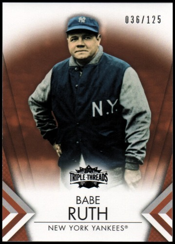 Photo of 2012 Topps Triple Threads Amber #11 Babe Ruth