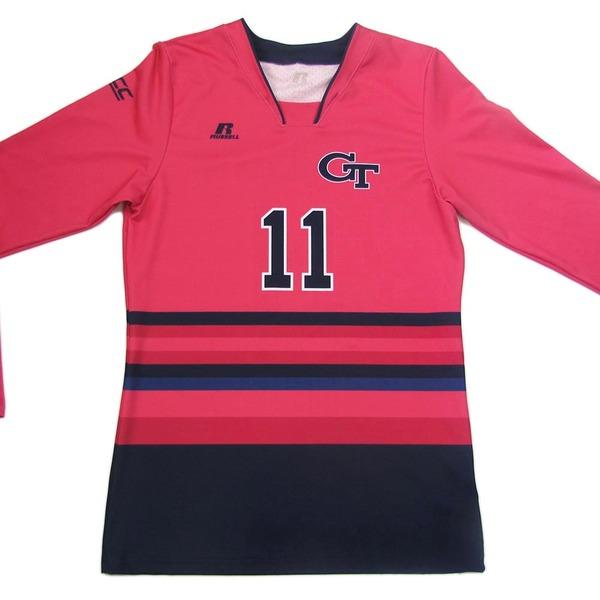 Photo of Georgia Tech 2016 Women's Volleyball Pink #11 Game Worn Jersey (M)