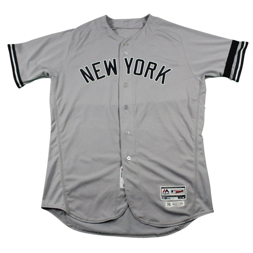 Photo of Luis Cessa New York Yankees 2017 Team Issued # 85 Road Jersey. Jersey Size - 48