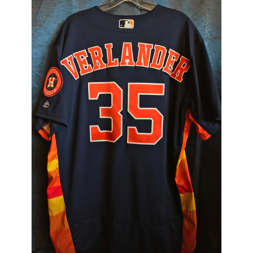 Photo of 2018 Game-Used Justin Verlander Sunday Alternate Jersey