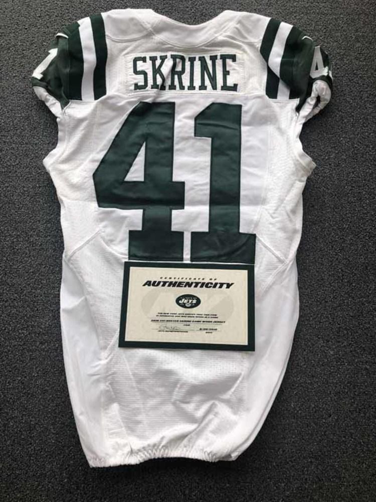 NFL Auction | New York Jets - 2016 #41 Buster Skrine Game Worn Jersey