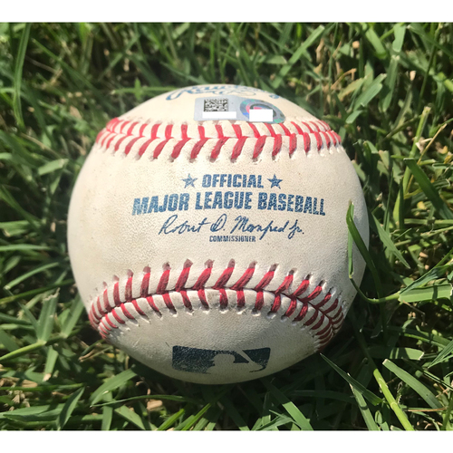 Photo of Cardinals Authentics: Game-Used Baseball Pitched by Jordan Hicks to Cody Bellinger and Yasiel Puig *Walk, Strikeout 104 MPH*