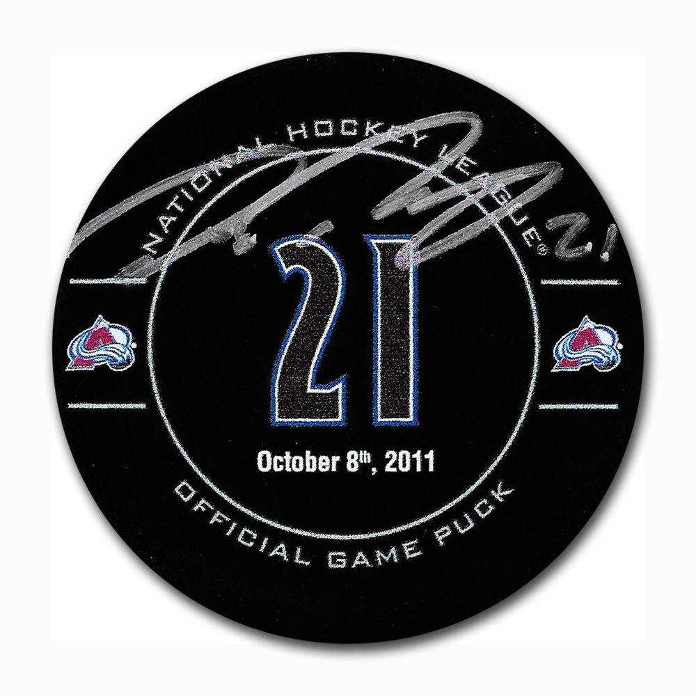 Peter Forsberg Autographed Colorado Avalanche Forsberg Night Official Game Puck
