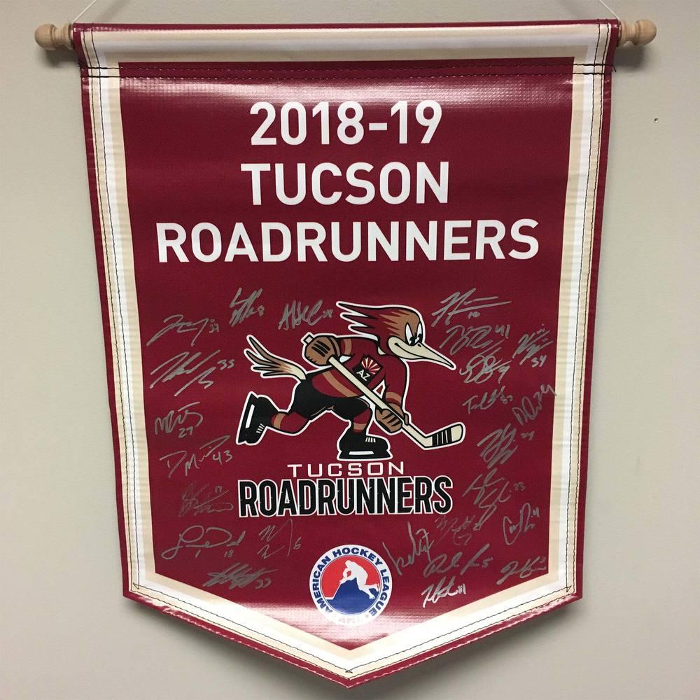 2018-19 Tucson Roadrunners Team-Signed Banner