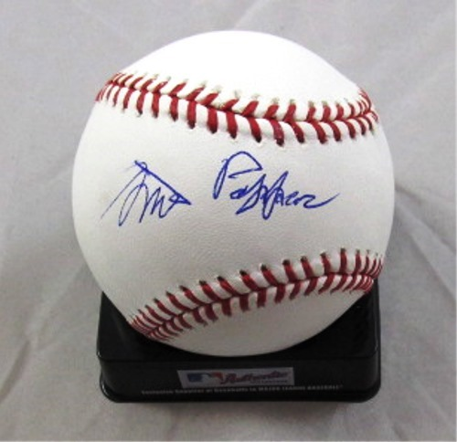 Photo of Milt Pappas Autographed Baseball