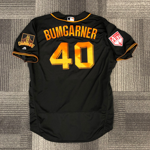San Francisco Giants - 2019 Game Used Spring Training Jersey - #40 Madison Bumgarner - worn 2/24/19 vs CHC - Size 50