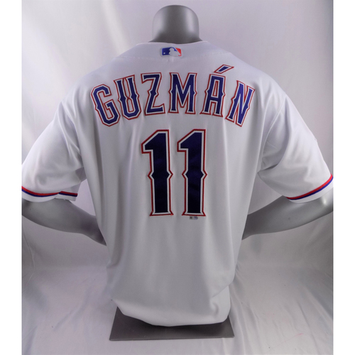 Photo of Game-Used Opening Day Jersey - Ronald Guzman - 3/28/19