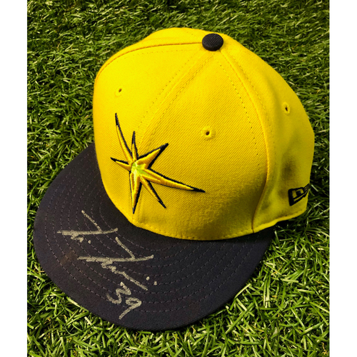 Photo of Rays Baseball Foundation: Game Used Autographed Player's Weekend Cap: Kevin Kiermaier - August 26, 2018 v BOS