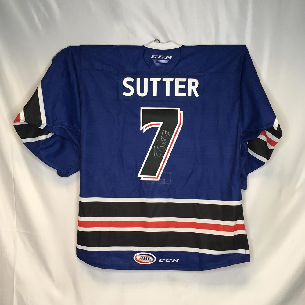 2019-20 Ontario Reign First Responders Night Jersey Worn and Signed by #7 Brett Sutter