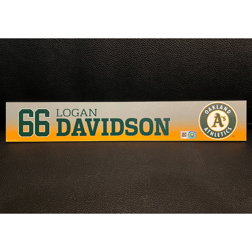 Photo of Logan Davidson Team Issued 2020 Spring Training Locker Nameplate