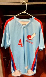 Photo of Jacksonville Expos Fauxback Jersey #4 Size 44
