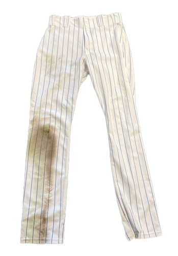 Photo of Kris Bryant Game-Used Pants -- Mets vs. Cubs -- 4/21/21 -- Size 35-42-37
