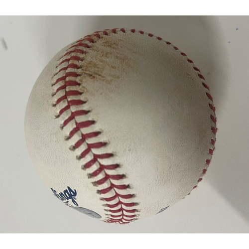 Photo of Game-Used Baseball - Lourdes Gurriel Doubles off Pitcher Elijah Morgan - 5/28/2021 Blue Jays at Indians