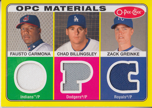 Photo of 2009 O-Pee-Chee Materials #CBG Chad Billingsley/Fausto Carmona/Zack Greinke