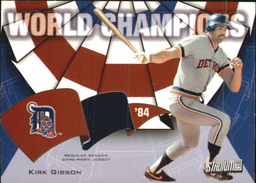 Photo of 2002 Stadium Club World Champion Relics #WCKG2 Kirk Gibson Jsy