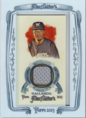 Photo of 2013 Topps Allen and Ginter Framed Mini Relics #YG Yovani Gallardo