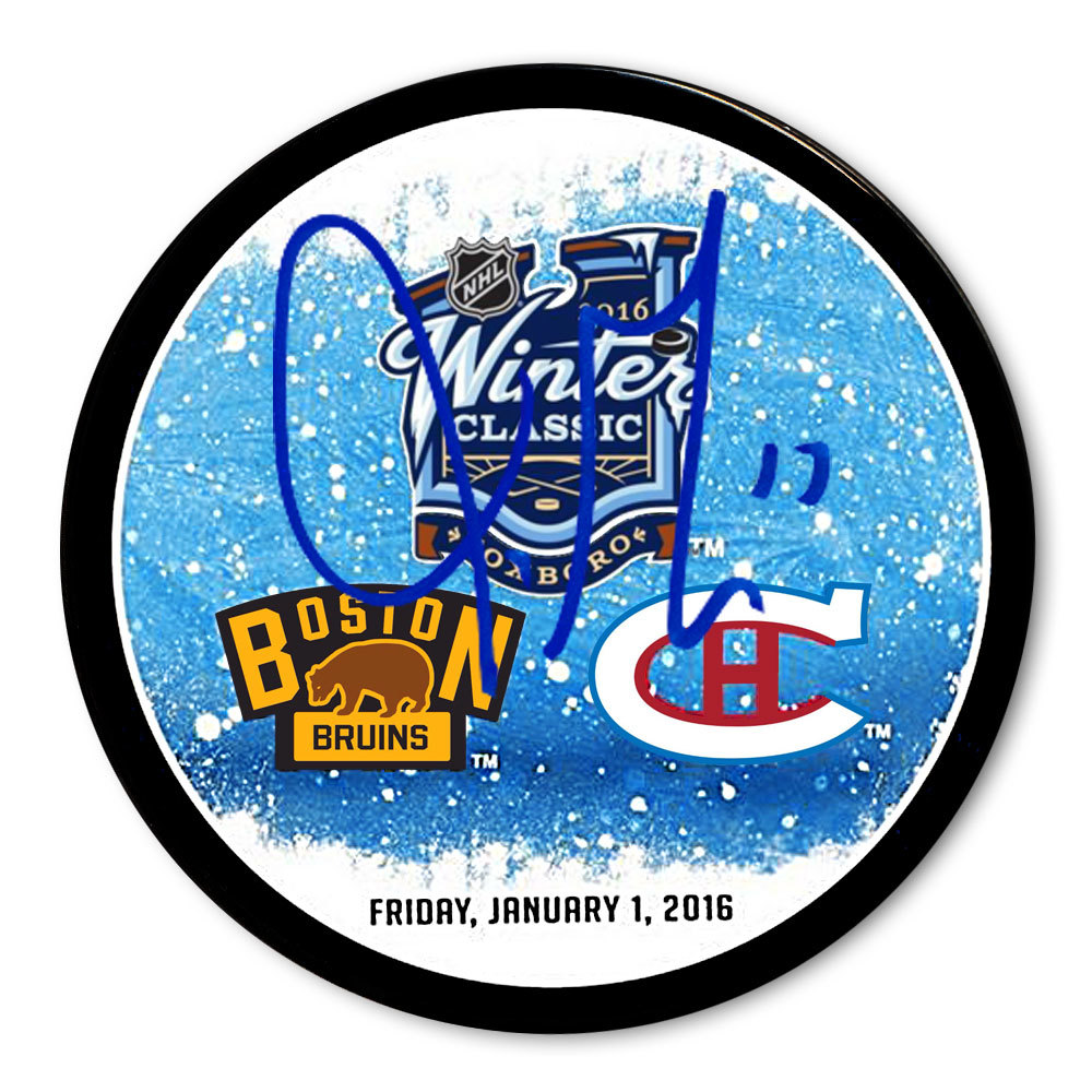 Torrey Mitchell 2016 Winter Classic Dueling Autographed Puck Montreal Canadiens