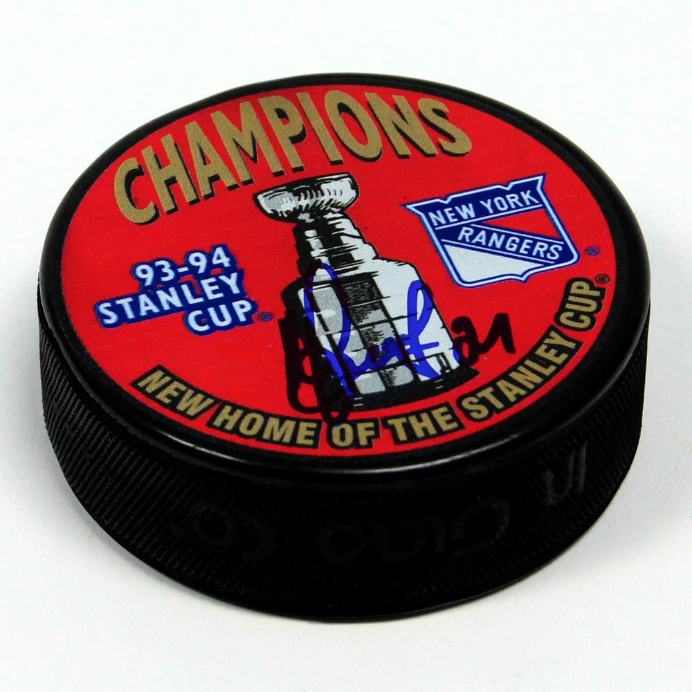 Sergei Zubov New York Rangers Autographed 1994 Stanley Cup Puck