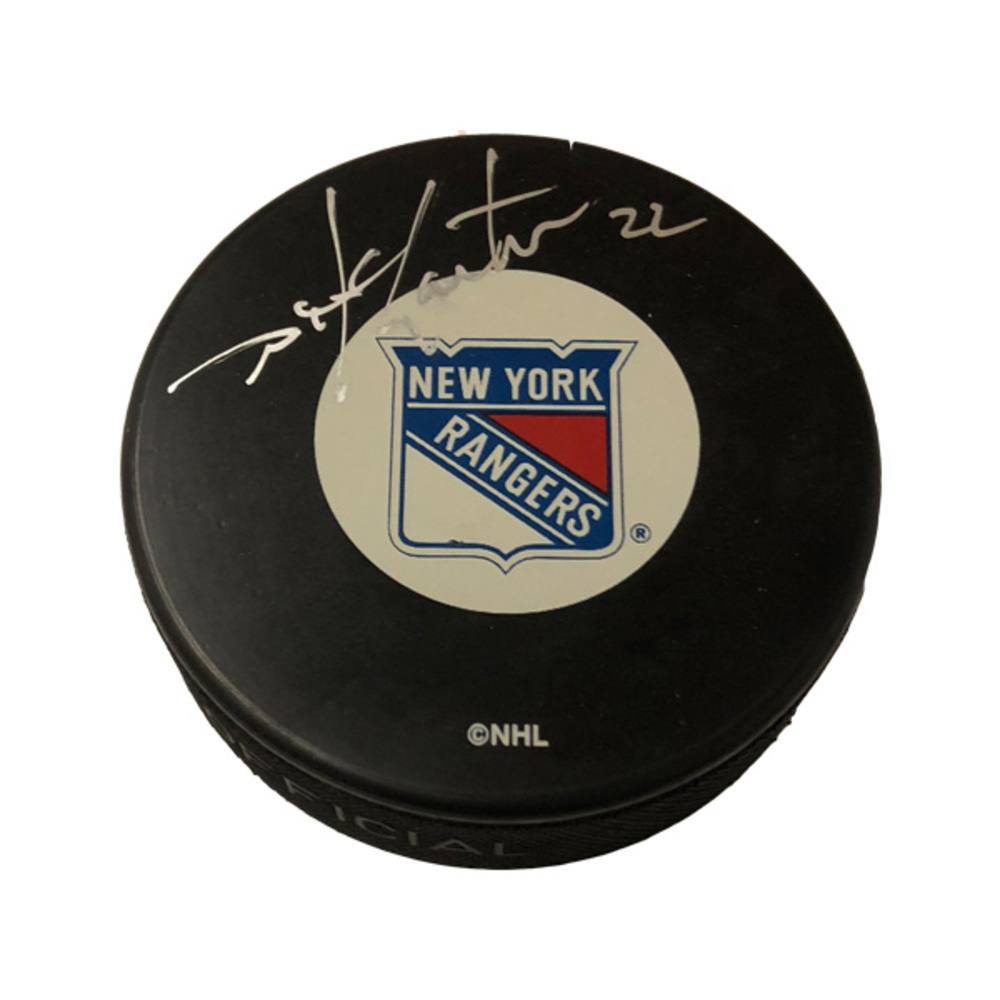 MIKE GARTNER Signed New York Rangers Puck (exact puck shown)