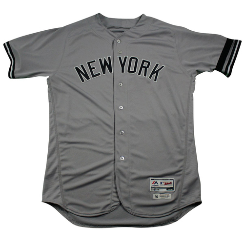 Photo of Matt Holliday New York Yankees 2017 Team Issued # 17 Road Jersey. Jersey Size - 46