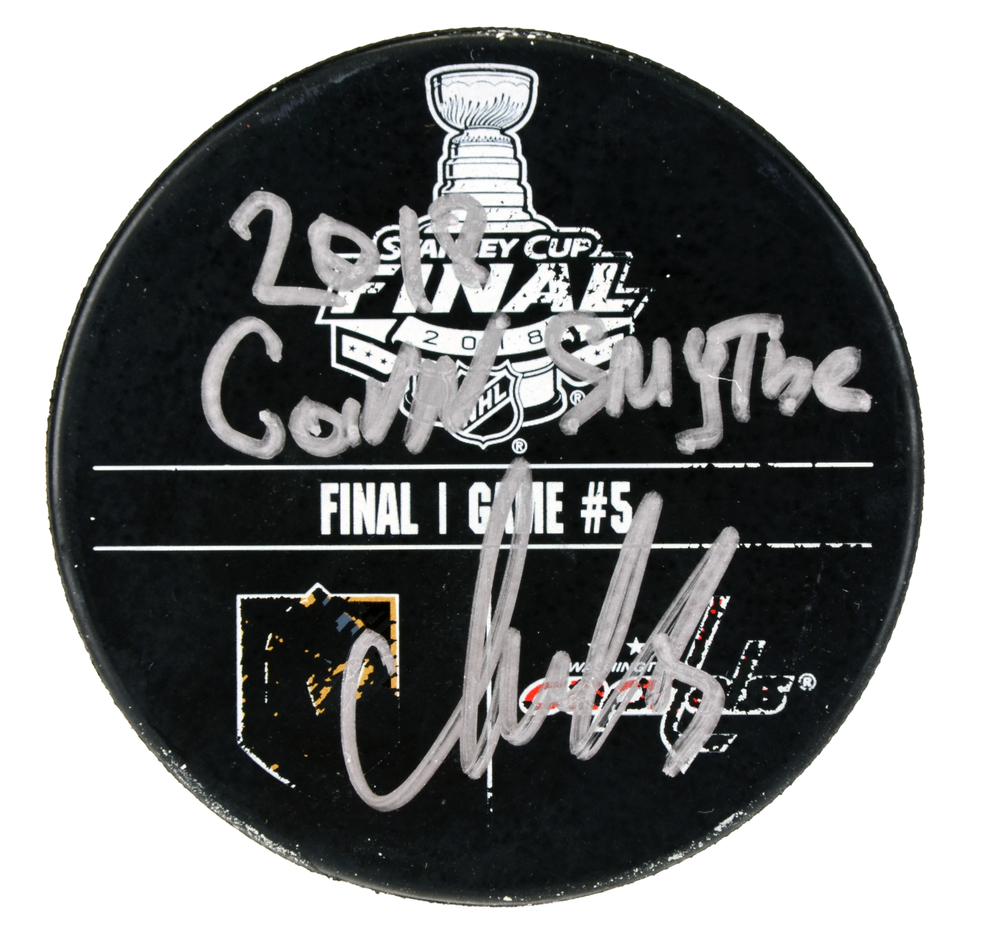 Alex Ovechkin Washington Capitals Autographed 2018 Stanley Cup Final Game 5 Warm-Up Puck with 2018 Conn Smythe Inscription