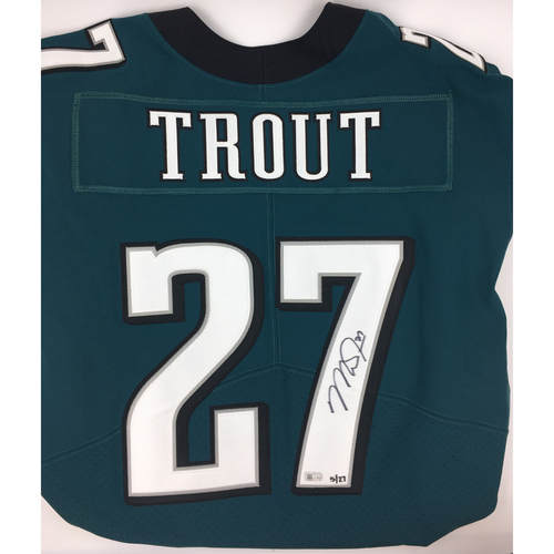 Photo of Mike Trout Autographed Authentic Green Elite Philadelphia Eagles Jersey - Limited Edition