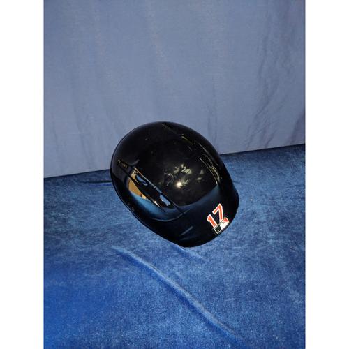 Photo of Shohei Ohtani 80's Style Game-Used Helmet - Home Run Game