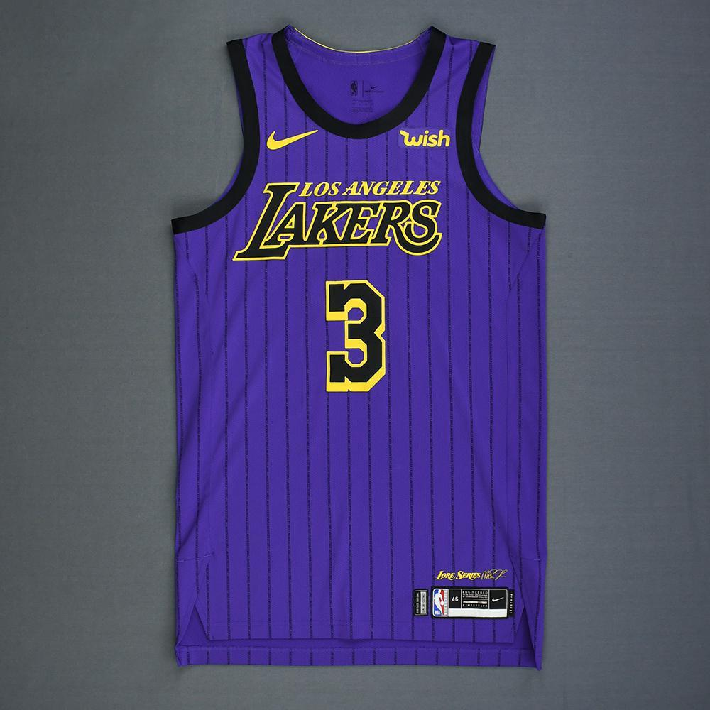official photos ca905 10dc1 Josh Hart - Los Angeles Lakers - Game-Worn City Edition ...