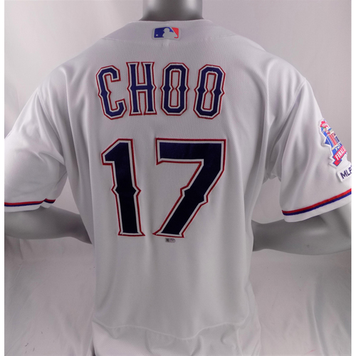 Photo of Game-Used Opening Day Jersey - Shin-Soo Choo - 3/28/19