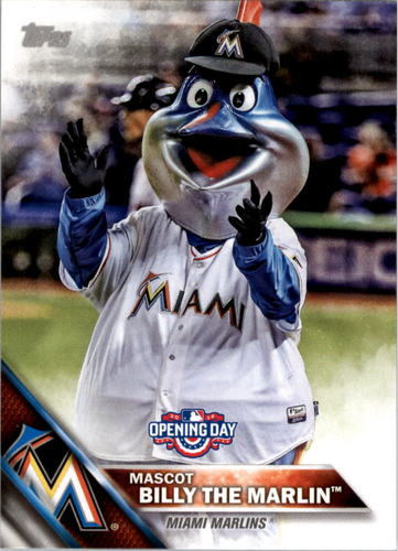 Photo of 2016 Topps Opening Day Mascots #M2 Billy the Marlin