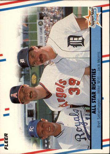 Photo of 1988 Fleer #626 Bret Saberhagen/Mike Witt/Jack Morris