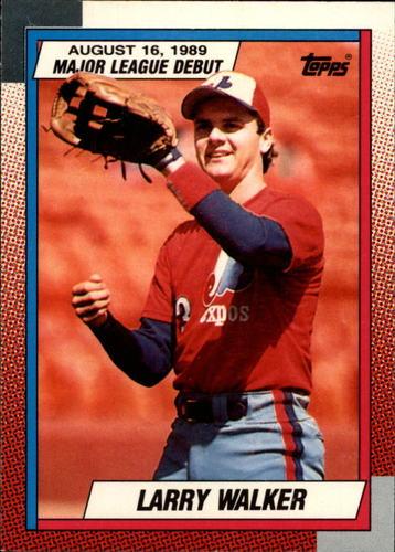Photo of 1990 Topps Debut '89 #133 Larry Walker