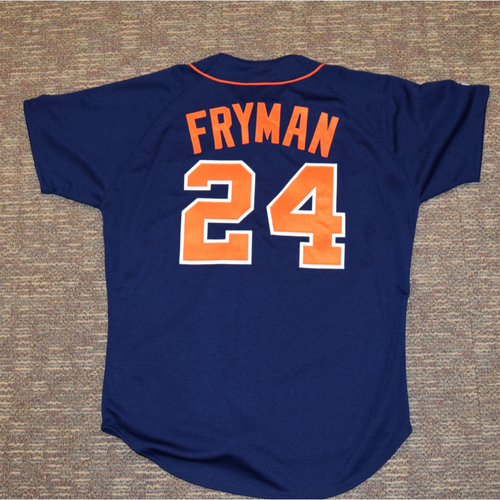 Photo of Travis Fryman Detroit Tigers #24 Blue Jersey (NOT MLB AUTHENTICATED)