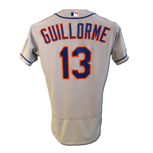 Photo of Luis Guillorme #13 - Game Used Road Grey Jersey - Mets vs. Reds - 9/20/19
