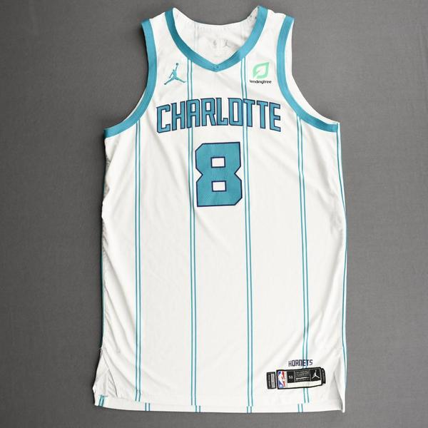 Image of Bismack Biyombo - Charlotte Hornets - Kia NBA Tip-Off 2020 - Game-Worn Association Edition Jersey