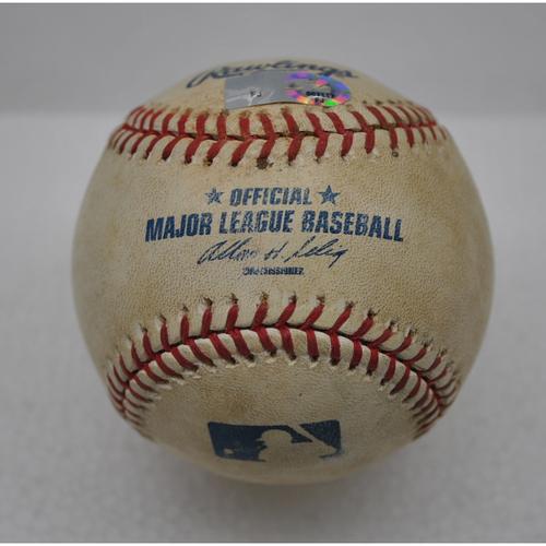 Game-Used Baseball - 6/8/2010 - FLA vs. PHI - Giancarlo Stanton's MLB Debut/1st Career Hit Game