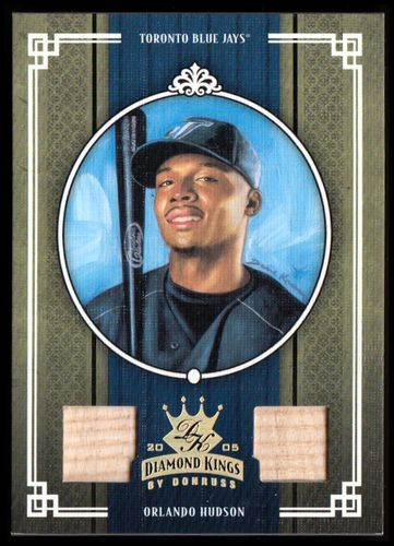 Photo of 2005 Diamond Kings Materials Gold #407 Orlando Hudson Bat-Bat/50