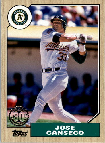 Photo of 2017 Topps '87 Topps #52 Jose Canseco